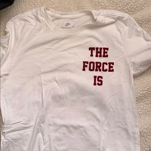 "Nike men's t shirt "" The force is female"""